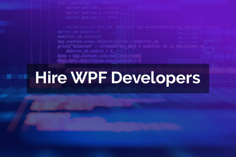 Hire WPF Developers